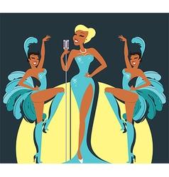 Cabaret show vector image