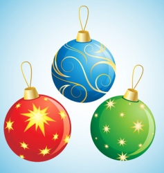 Christmas ball decoration vector image vector image
