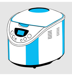 Electric bread cooker vector image vector image