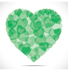 green heart shape make big heart vector image