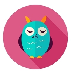 Owl Circle Icon vector image