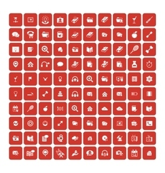 Set of 100 Universal Icons Business internet vector image vector image