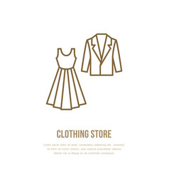 wedding cocktail dress men suit icon clothing vector image