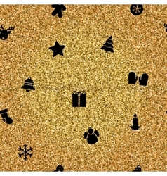 Christmas Objects on gold background vector image vector image