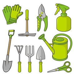 gardening icons vector image