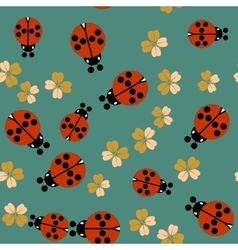 Cartoon ladybug seamless pattern 661 vector image