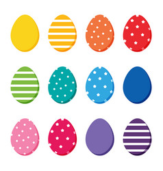 colorful easter eggs set collection vector image vector image