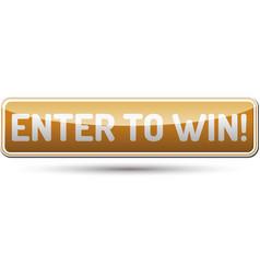 Enter to win button vector