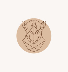 geometric of a head camel vector image vector image