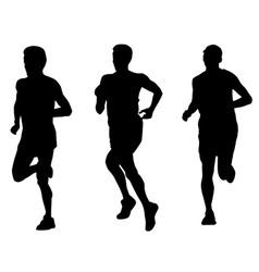 marathon runners vector image vector image