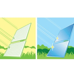 solar panels in color vector image