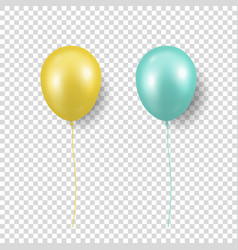 3d realistic glossy metallic yellow vector image