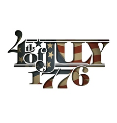 4th july 1776 cut out vector