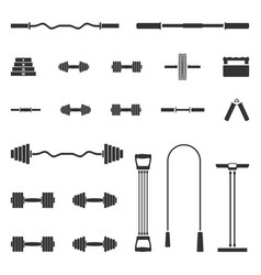 A set of sports equipment vector