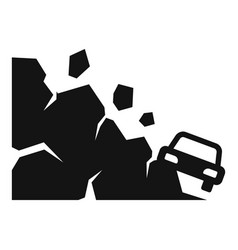 Accident landslide icon simple style vector