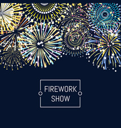 banner or poster fireworks background vector image