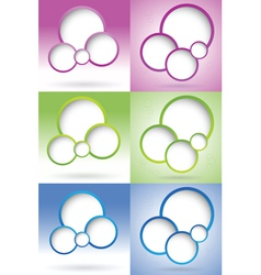 blank web design bubble vector image