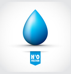 blue water droplet vector image