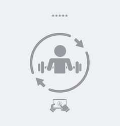 body building training - web icon vector image