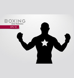 boxing silhouette boxing vector image