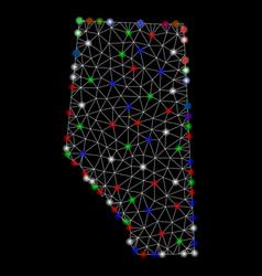 Bright mesh network alberta province map vector