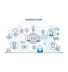business team teamwork communication vector image