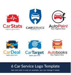 car service logo template design vector image
