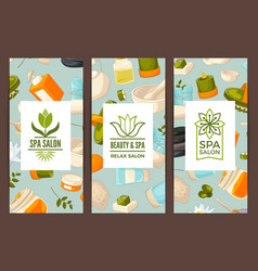 card or flyer with logo vector image
