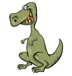cartoon of dinosaur character vector image