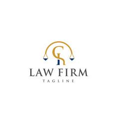 ch law logo design vector image