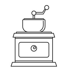 coffee grinder icon outline style vector image