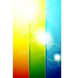 Colorful shiny banner backgrounds vector image