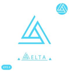 Delta letter logo template vector
