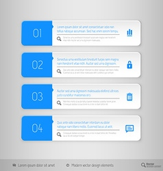 Design layout modern symbols tabs vector