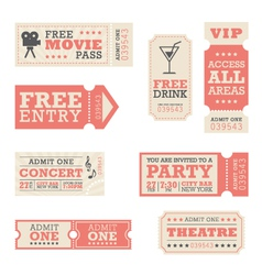 Entertainment tickets vector