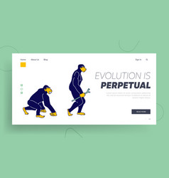 Evolution human development process website vector
