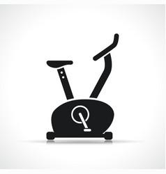 Exercise bike black icon vector
