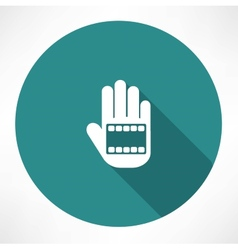 Film in hand icon vector