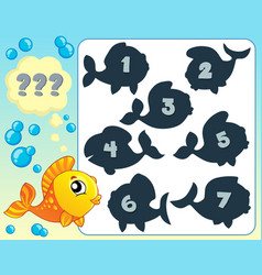 Fish riddle theme image 6 vector
