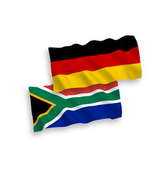 Flags republic south africa and germany on a vector