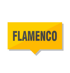 flamenco price tag vector image