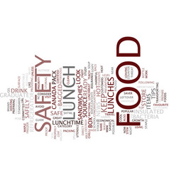 Food safety text background word cloud concept vector
