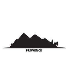 France provence city skyline isolated vector