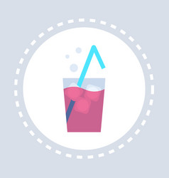 fresh beverage cocktail glass icon unhealthy vector image