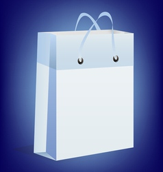 Gift box blue vector