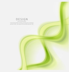 green abstract wave background wave flow vector image