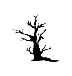 halloween spooky tree icon vector image