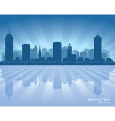 Hamilton Canada skyline city silhouette vector