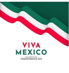 Happy mexico independence day celebration vector
