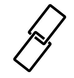 Hyperlink icon vector